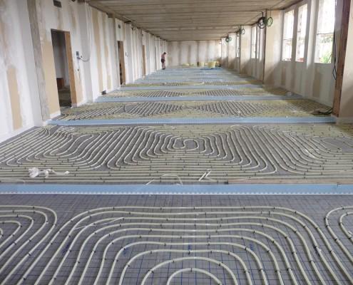 impianti radianti pavimento
