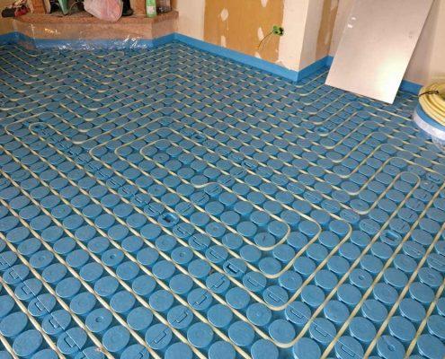 impianto radiante a pavimento a basso spessore